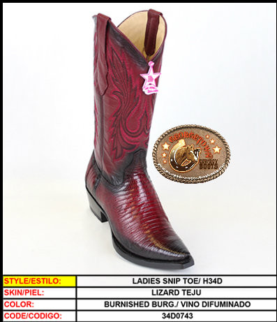 Womens Snip Toe Lizard Cowgirl Boots Los Altos Boots