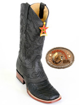 """Caiman Belly Grasso Square-Toe with Saddle Vamp """"D """" Width 821G8205"""