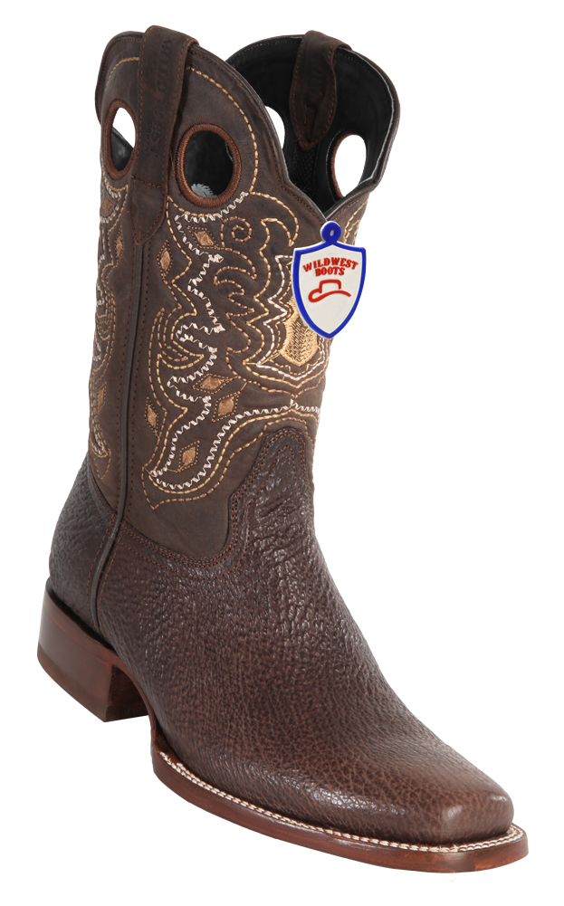 ab0c5037b3d8f3 Wild West Boots Mens Full Vamp Shark Square-Toe Western Boots ...