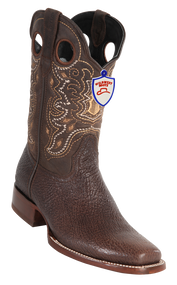 Mens Shark Square Toe Boots. Wild West. Brown 282C9307