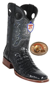 Caiman Belly Square toe Mens Boots. Wild West Boots. 282C8205
