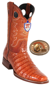 Caiman Belly Square-Toe Western Boots Wild West Boots. 282C8203