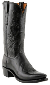 Lucchese Heritage Mens Black Buffalo Boots N1652