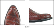 J Toe , Classic cowboy boot toe designed to easily slip into the stirrups.