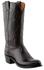 Lucchese Heritage Mens Black Cherry Buffalo Cowboy Western Boots N1653