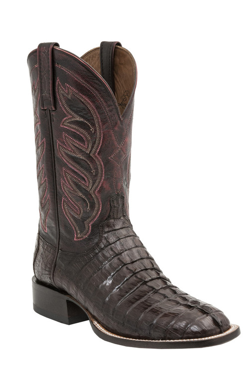 Lucchese Since 1883 Mens Western Landon Barrel Brown Hornback Caiman Tail M2686