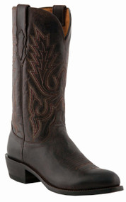 "Lucchese Since 1883 Mens Western with ""Gill"" Stitch Design Chocolate Burnished Madras Goat M1002"