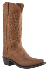 Mens Lucchese Since 1883 Western Boots Tan Mad Dog Goat M1008