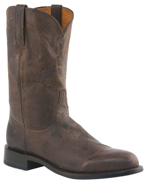 Mens Lucchese Since 1883 Roper Boots Chocolate Madras Goat M1018