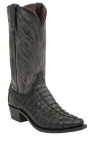 Lucchese Since 1883 Mens Western Landon Black Hornback Caiman Tail M2687