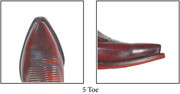 """Lucchese Toe """" 5 """" Snip toe with a slight undercut."""
