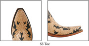"""Lucchese Toe """" S5 """" Same as toe 5 but turned up more at the tip."""