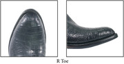 """Lucchese Toe """" R """" Semi-round cowboy toe. 2nd most popular style after the J Toe. AKA: 6/8 Toe."""