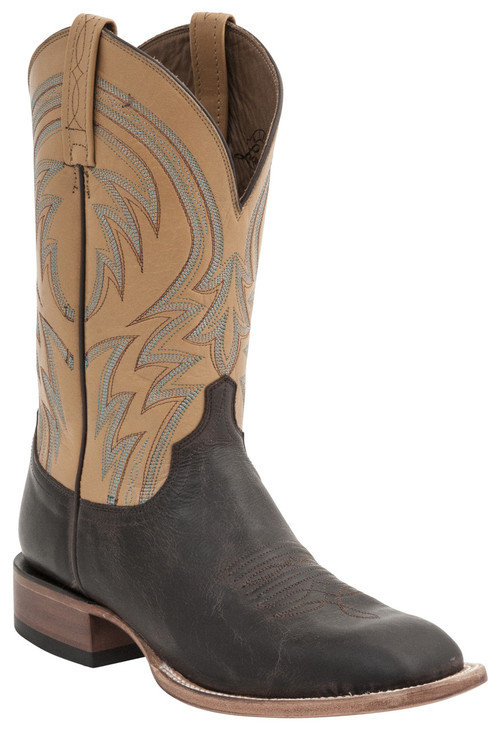Lucchese Since 1883 Mens Western Alan Dark Brown Leather Boots M2662
