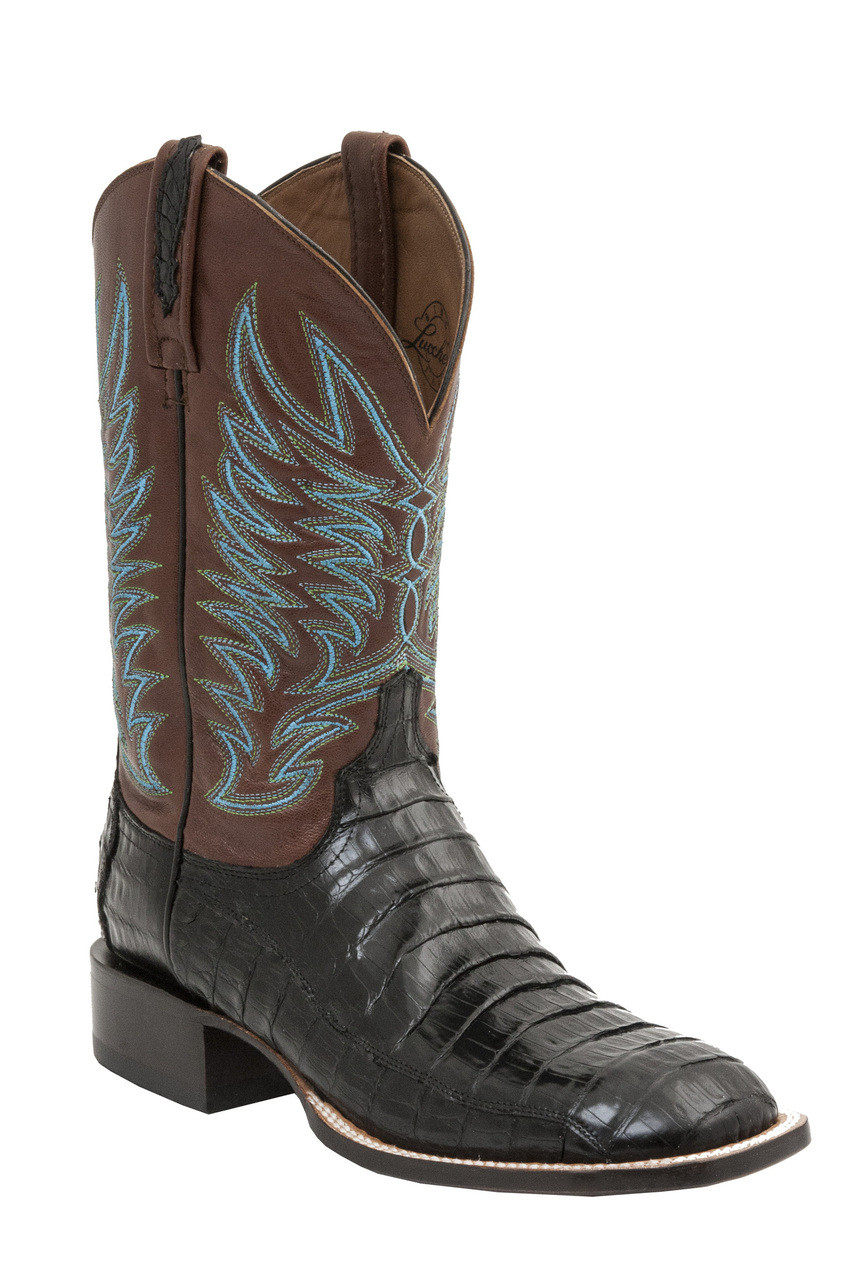 6034beef95c Lucchese Since 1883 Mens Western Logan Black Caiman Belly Tail M2666