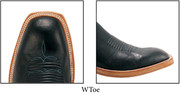 W - Toe (Nearly square toe rounded over )