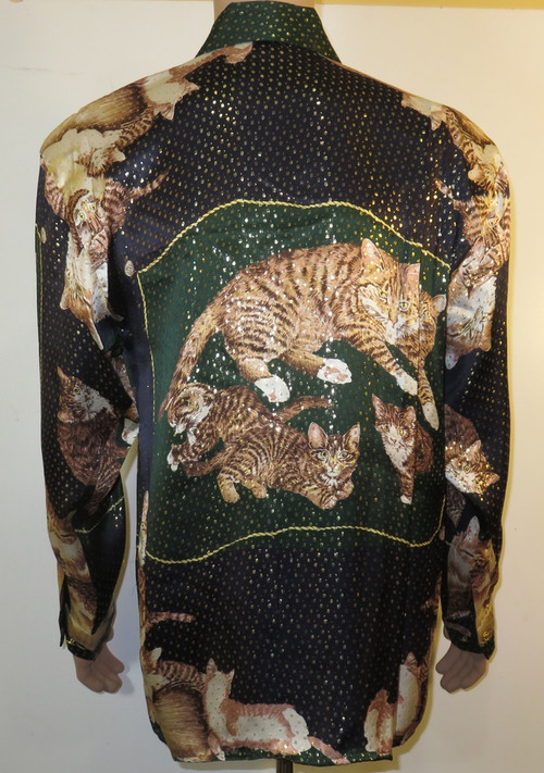 Cats Mens Silk Shirt