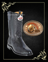 Los Altos Ostrich Roper Black 800505