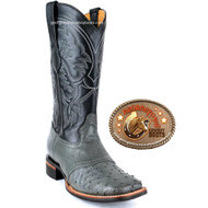 King Exotic Gray Full Quill Boots 8230309