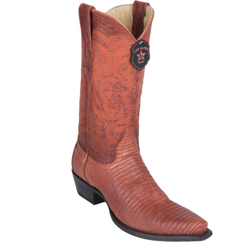 Los Altos Snip Toe Teju Lizard Cognac/Tan Mens Boots 94G0703