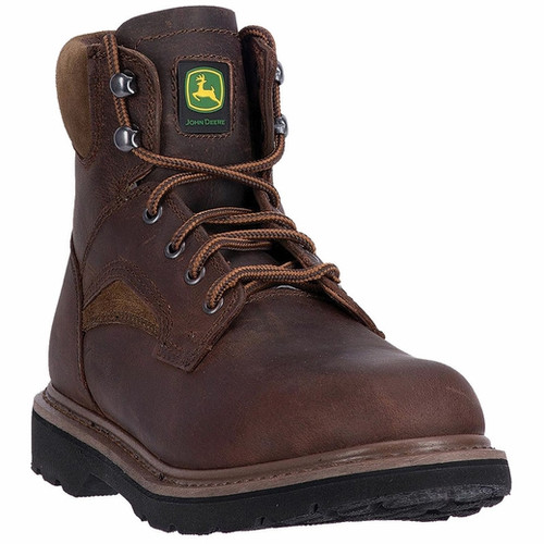"""John Deere 6"""" Lace up Leather Boots JD6194"""