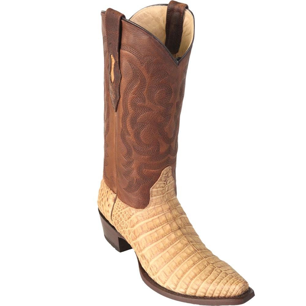 480e7d5b608 Los Altos Men's Snip Toe Caiman Belly Handcrafted Mens Boots Greasy Finish  94G8251