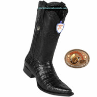 Mens Wild West Caiman Belly Black Western Boots 2948205