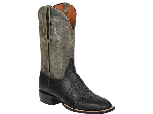 CL1512 Miller Lucchese Roper Mens Boots,Black /Sage color