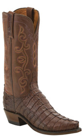 Lucchese Hornback Crocodile Tail Cut Womens Boots KD4013