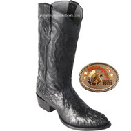 Los Altos Mens Round Toe Caiman Hornback Cowboy Boots Brown 650205