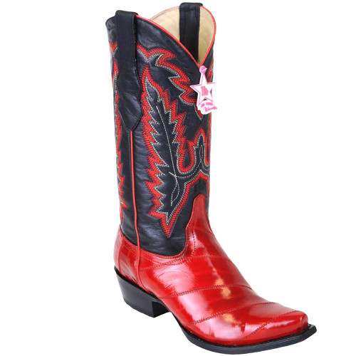 Women Red Eel Skin Boots 340812 Los Altos Boots