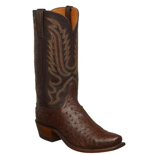 Lucchese Heritage Brown Full Quill Ostrich N1154