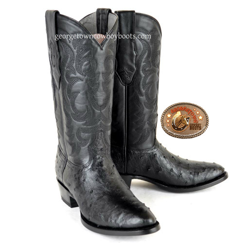 Mens Los Altos Genuine Ostrich Western Boots Handcrafted 650305