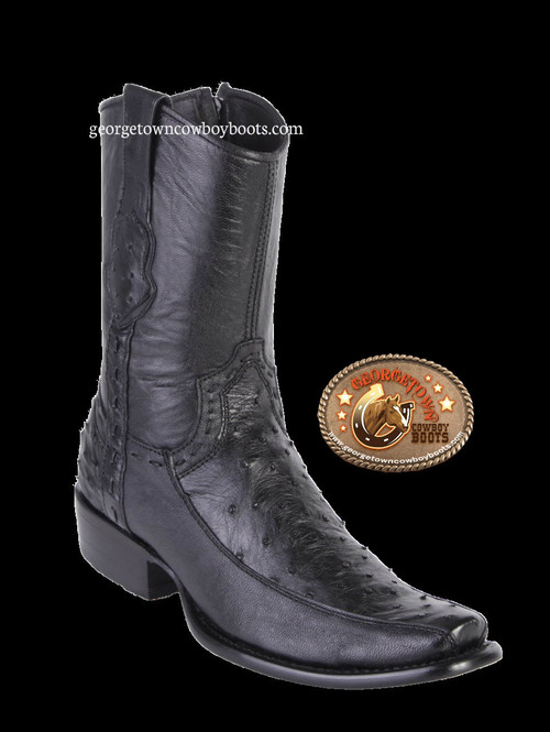 King Exotic Mens Genuine Ostrich and Deer Leather Boots H79 Dubai Toe 479BF0305