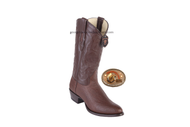 Los Altos Cognac Brown Shark Round Toe Western Boots 650907