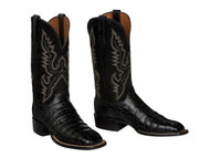 CL1009 Black Lucchese Ultra Belly Caiman Belly  Boots