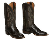 CL1008 Chocolate + Dark Brown  Lucchese Ultra Belly Caiman Belly  Boots
