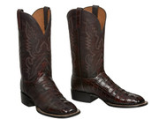 CL1007  Lucchese Ultra Belly Caiman Belly  Boots Cherry Black