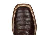CL1006  Lucchese Ultra Belly Caiman Belly  Boots Barrel Brown+Dark Brown