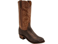 Lucchese Heritage Mens Chocolate Ostrich Leg Cowboy Boots N1146