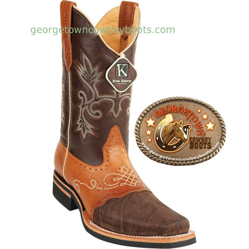 Mens King Exotic Elephant Skin Boots 8167007