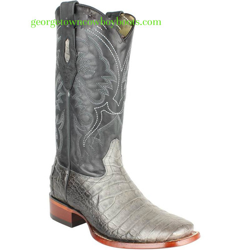 Men's Los Altos Caiman Belly Boots Square Toe Handcrafted 8228238