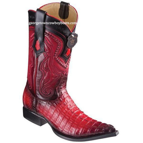 Men's Los Altos Caiman Tail Boots 3X Toe Handcrafted 9530129
