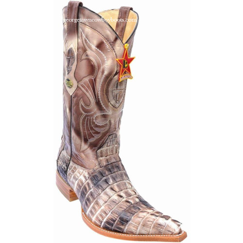 Men's Los Altos Genuine Caiman Tail Boots Handcrafted 950147