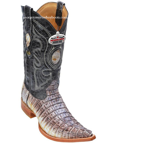 Men's Los Altos Genuine Caiman Tail 3x Toe Boots Handcrafted Grey 950149