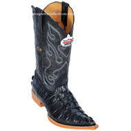 Men's Los Altos Caiman Tail Print Boots 3X Toe Handcrafted 3950105