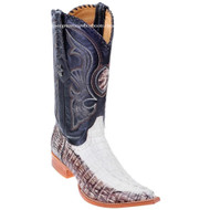 Men's Los Altos Genuine Caiman Tail 3x Toe Boots Handcrafted 950177