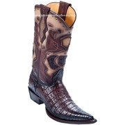 Men's Los Altos Genuine Caiman Belly 3x Toe Boots Handmade 95vf8216