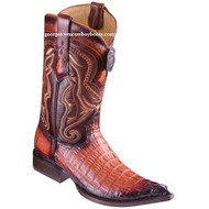 Men's Los Altos Caiman Tail Boots 3X Toe Handcrafted Faded Cognac 9530157