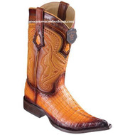 Men's Los Altos Caiman Tail Boots 3X Toe Handcrafted Faded Buttercup 9530101